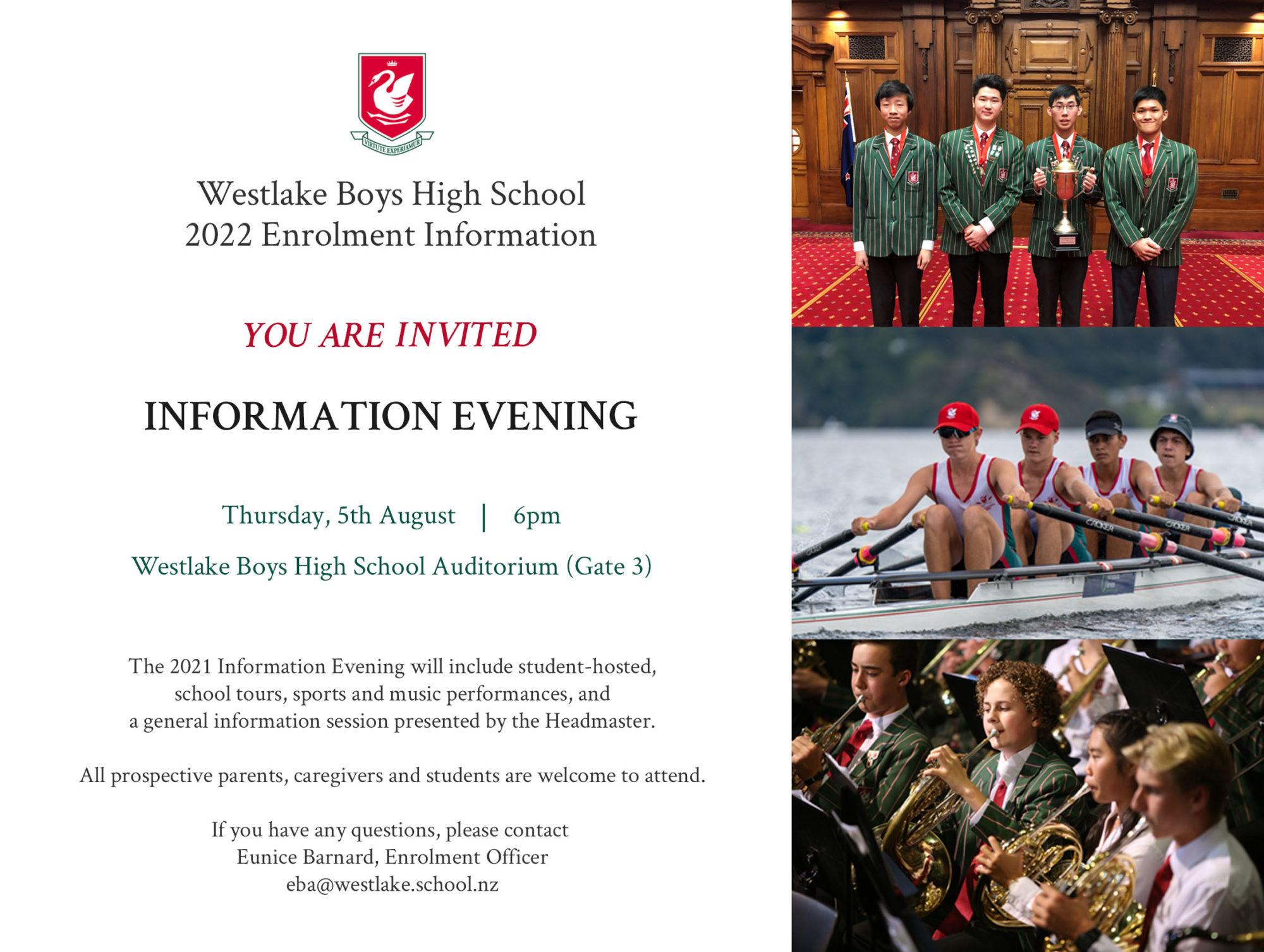 Westlake 2022 Info Evening